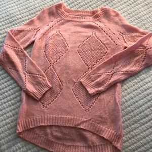 Pink thin knit sweater